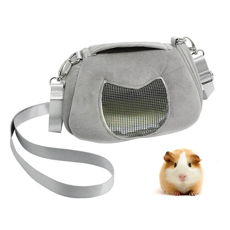 Portable Pet Carrier Outgoing Handbag With Adjustable Single Shoulder Strap Pouch For Sugar Glider Hamster Squirrel Small Animal