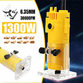 1300W 6.35MM 30000rpm Electric Trimmer Wood Laminate Router 110V US /220V EU Woodworking Trimming Tools Carving Milling Machine - DISCOUNT ITEM  30% OFF All Category