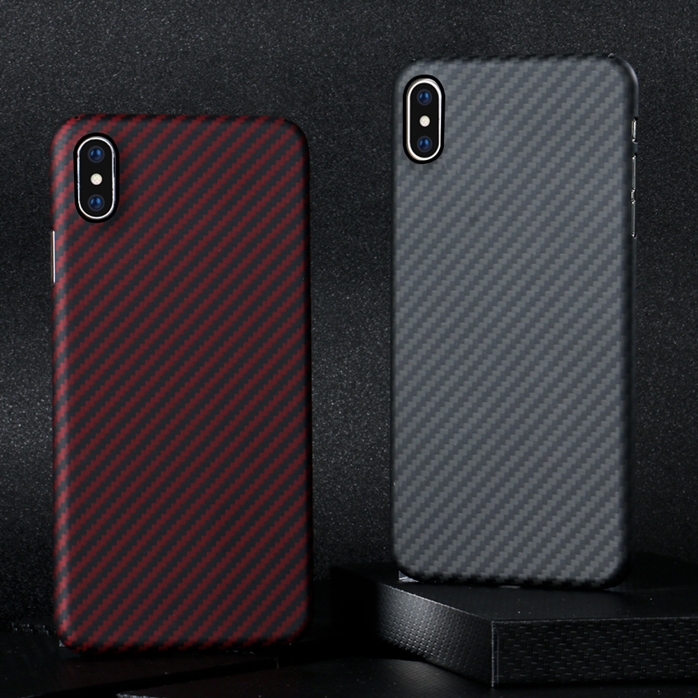 Luxurious Carbon Fiber Case for iPhone XS Max Case Matte Black Red Glossy Cover for iPhone XS Max Ultra Thin Phone Cover Coque