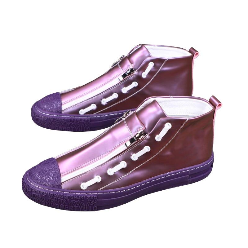 All Purple Sneakers Alphabet Zipper
