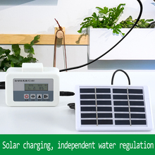 2 in 1 Solar Energy automatic watering device potted Plant drip irrigation system Kit Garden home Intelligent Water Pump Timer