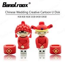 Pendrive 8GB Usb-Stick Memoria Wedding-Gift 16GB Usb 64gb 128gb Usb 32GB Traditional