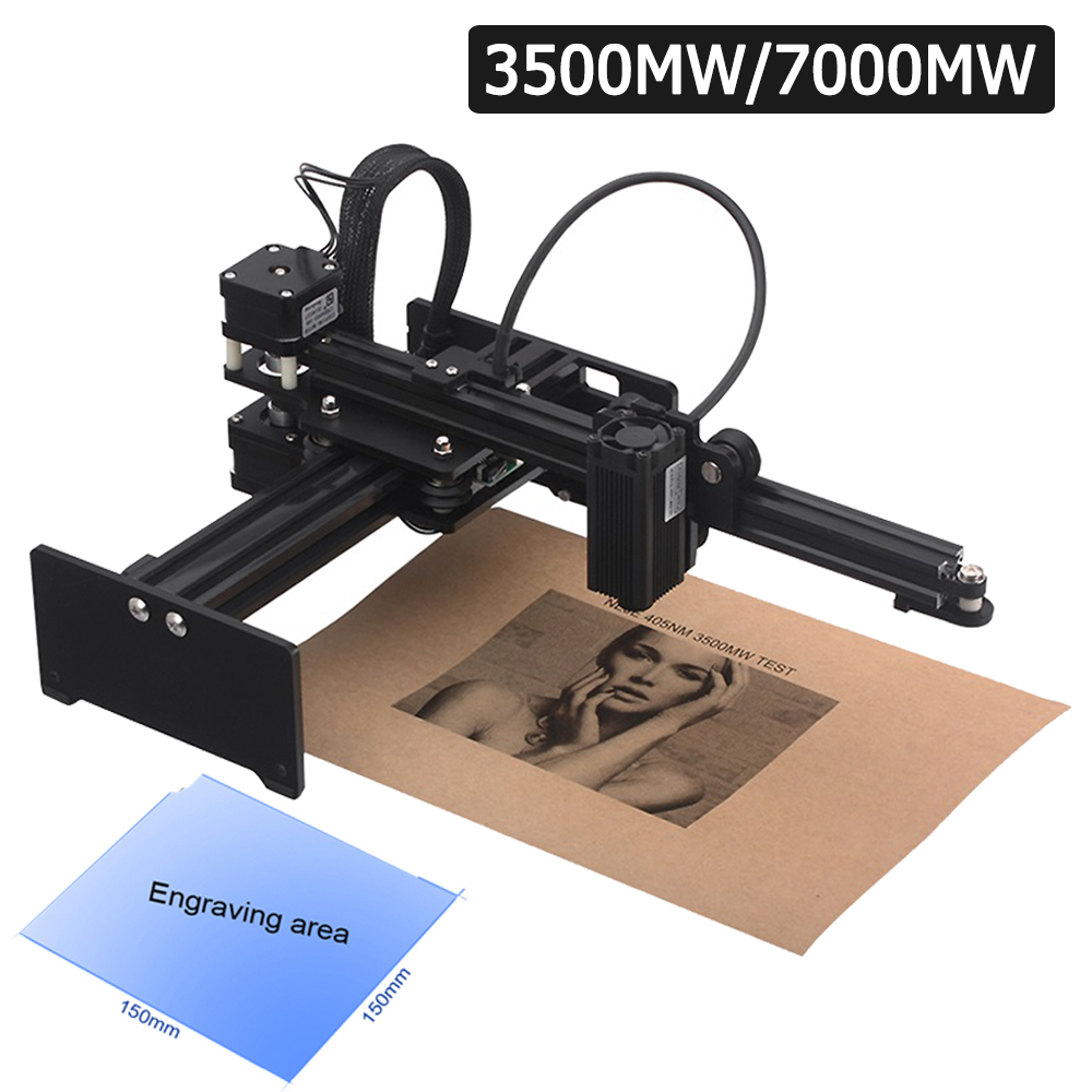 Professional Portable Mini CNC 7000mW Desktop Laser Engraver Carving Machine DIY Printer Wood Router Kit With Protective Glasses