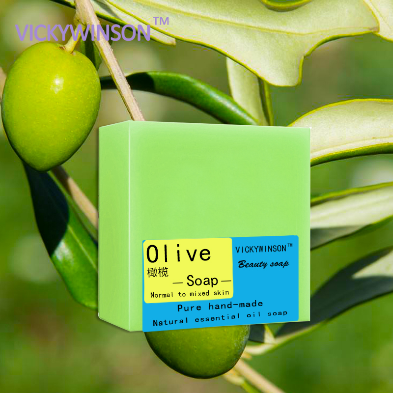 VICKYWINSON Olive Handmade Soap 100g Olive Essential Oil Handmade Ancient Soap Three-year Dried Handmade Soap
