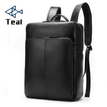 Genuine Leather Men Backpacks New Fashion Real Natural Leather Student Backpack Male Luxury Brand Large Computer Laptop Bag new cow genuine leather men backpacks fashion real natural leather student backpack boy luxury brand lager computer laptop bag