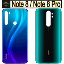 New For Xiaomi Redmi note 8 pro Battery Cover Back Glass Panel Rear Housing case For Redmi note 8 pro Back battery Cover door