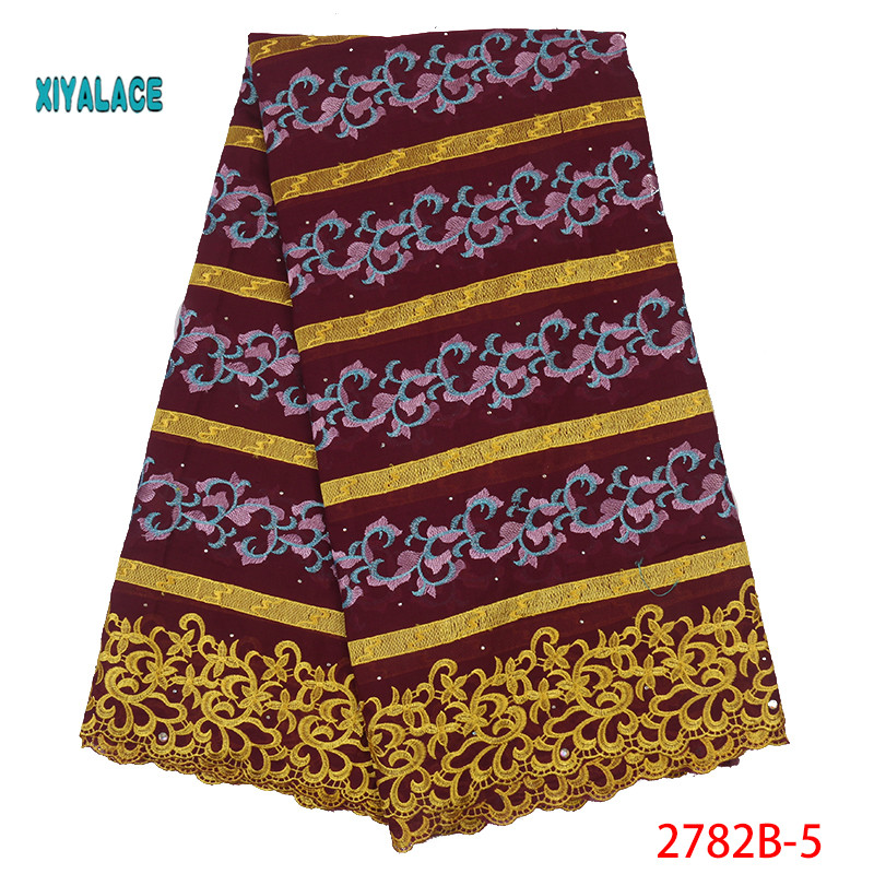 Nigerian African Lace Fabric Lace Fabric The New African French Dry Lace For 2019 High Quality Swiss Voile Lace Fabric YA2782B-5