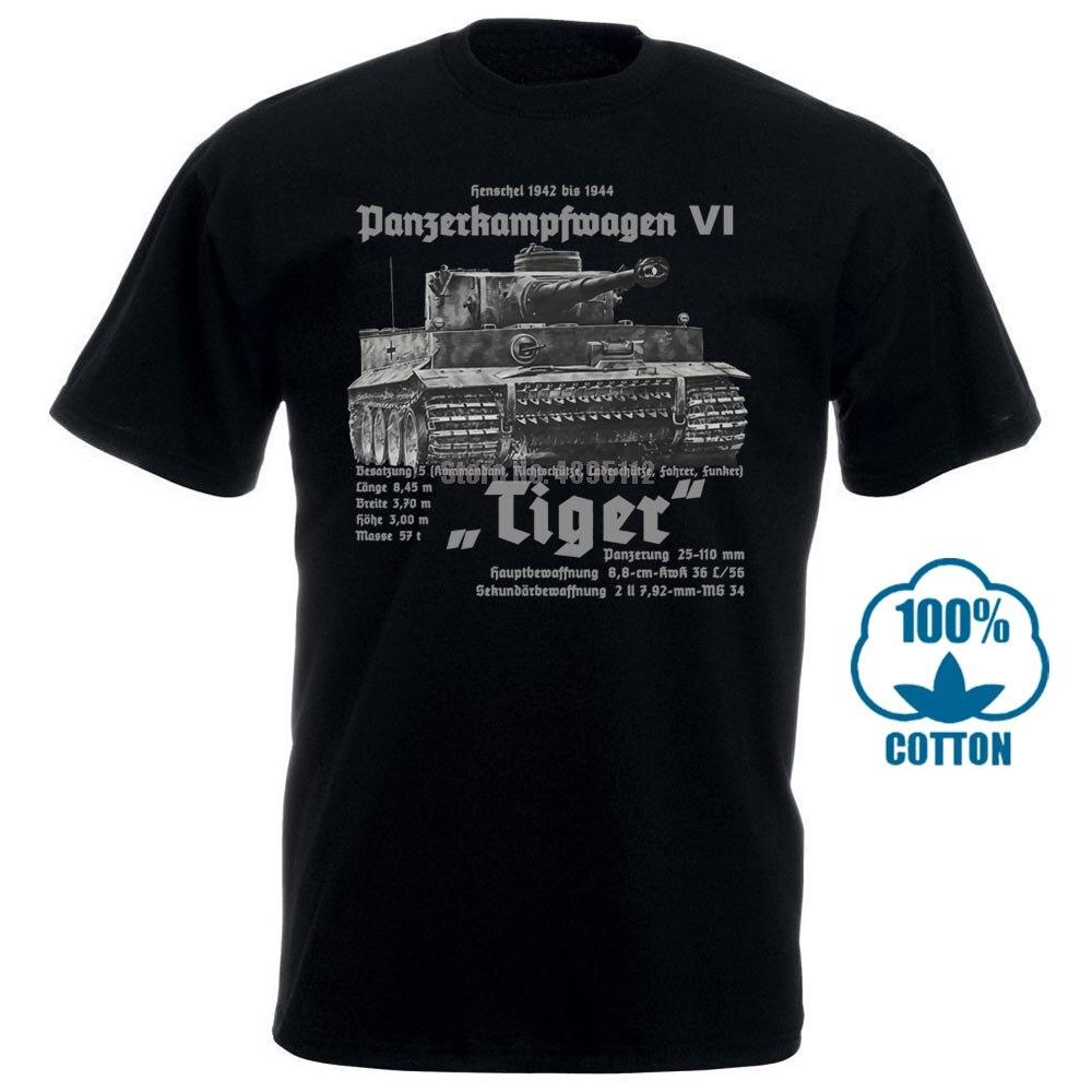 Camisa de T Dos Homens Premium T Camisa Do Tigre Panzer Wehrmacht Deutsches Reich Ruhm Ehre Ww2 Soldaten Tee Camisa