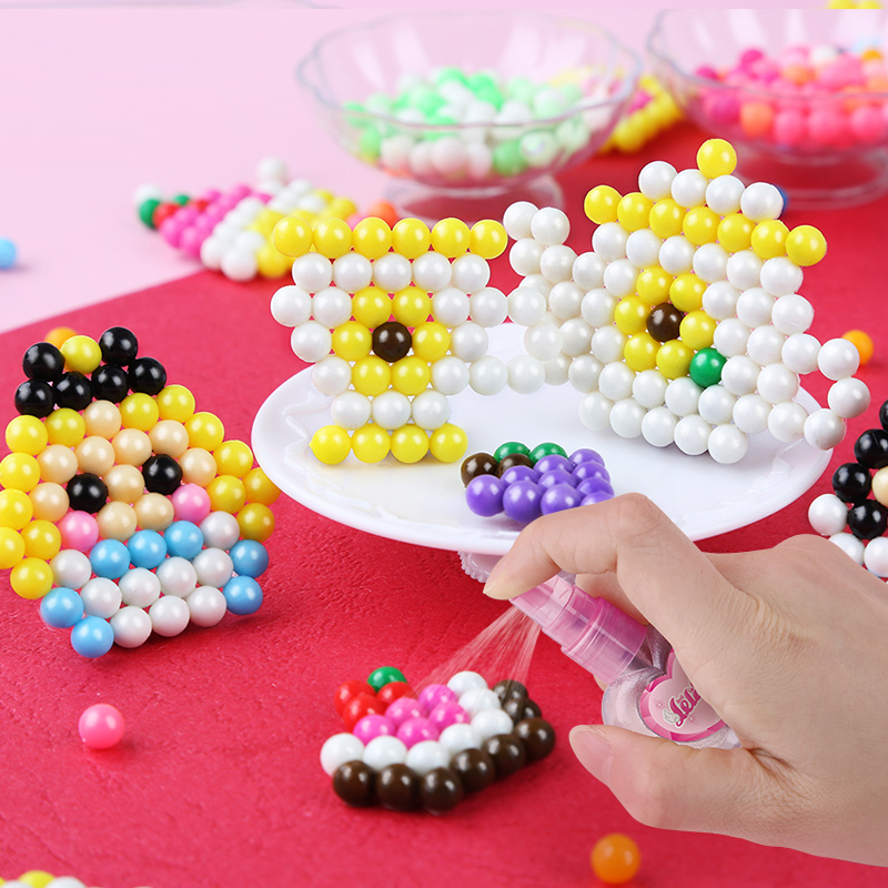 Crafts For Kids Bead Kids Beads DIY Crystal Creative Material Water Spray Magic Puzzle Educational Toys For Children Wholesale