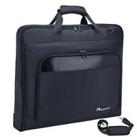 Modoker Garment Travel Bag with Shoulder Strap Duffel Bag Hanging Suitcase Clothing Business Multiple Pockets Men Baggage Black