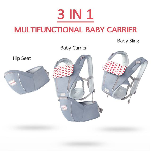 0-36 Months 3 in 1 Baby Sling Baby Carrier Infant Kid Baby Hipseat Sling Front Facing Kangaroo Baby Wrap Carrier For Baby Travel 4