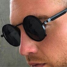 oakshion Vintage Round Punk Sunglasses Men's Spring Metal St