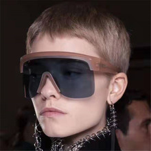 GIFANSEE oversize sunglasses women rimless gradient men mirror glasses vintage luxury design retro brand uv400 Flat top