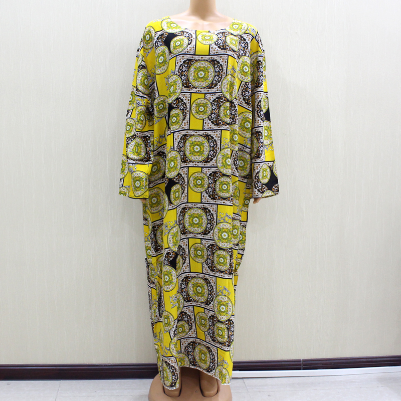 2020 Fashion Design New Arrival African O-Neck Long Sleeve Long Dress Women Spring Dresses Casaul Elegant Women Dress