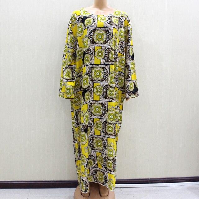 2020 Fashion Design New Arrival African O Neck Long Sleeve Long Dress Women Spring Dresses Casaul Elegant Women Dress
