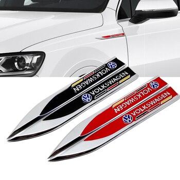 For Volkswagen Teramont Santana Tiguan Golf GTI Bora Jetta Magotan Passat Accessories Car Side Sticker Decal Emblem Fender Badge