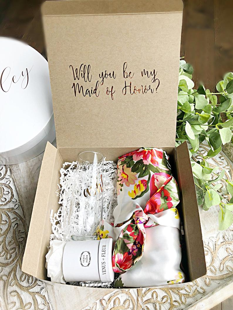 Wedding Engagement Hen Birth Baby Pop Proposal Box Will you be my bridesmaid