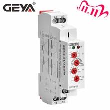 Ücretsiz kargo GEYA GRV8 01 tek fazlı voltaj rölesi ayarlanabilir üzerinde veya düşük gerilim koruma monitör röle LED ekran ile