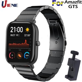20mm Stainless Steel Watchband Strap for Xiaomi Huami Amazfit GTS /GTR 42mm/Bip Lite /GTS2 Smart Bracelet Watch Wristband Correa