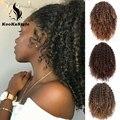 KookaStyle накладка на шнурке афро кудрявые накладные волосы синтетический накладной конский хвост афро-американское наращивание волос