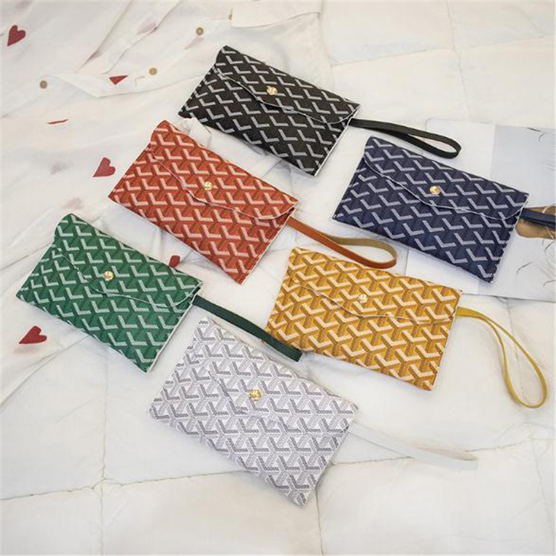 Coin Purse Buckle Clutch Simple Cute PU Leather Purse Decoration Long Multi-function Wallet Mobile Phone Student Women Wallets