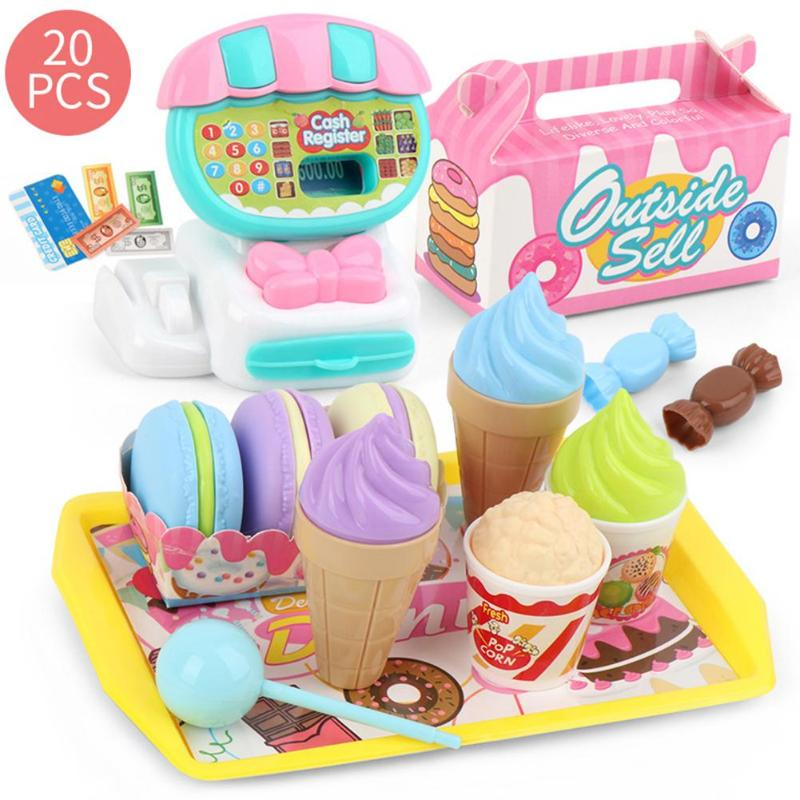 1 Set Kids Kitchen Pretend Play Toy Vegetable Ice Cream Dessert Pretend Play Early Education Toy For Children Gift