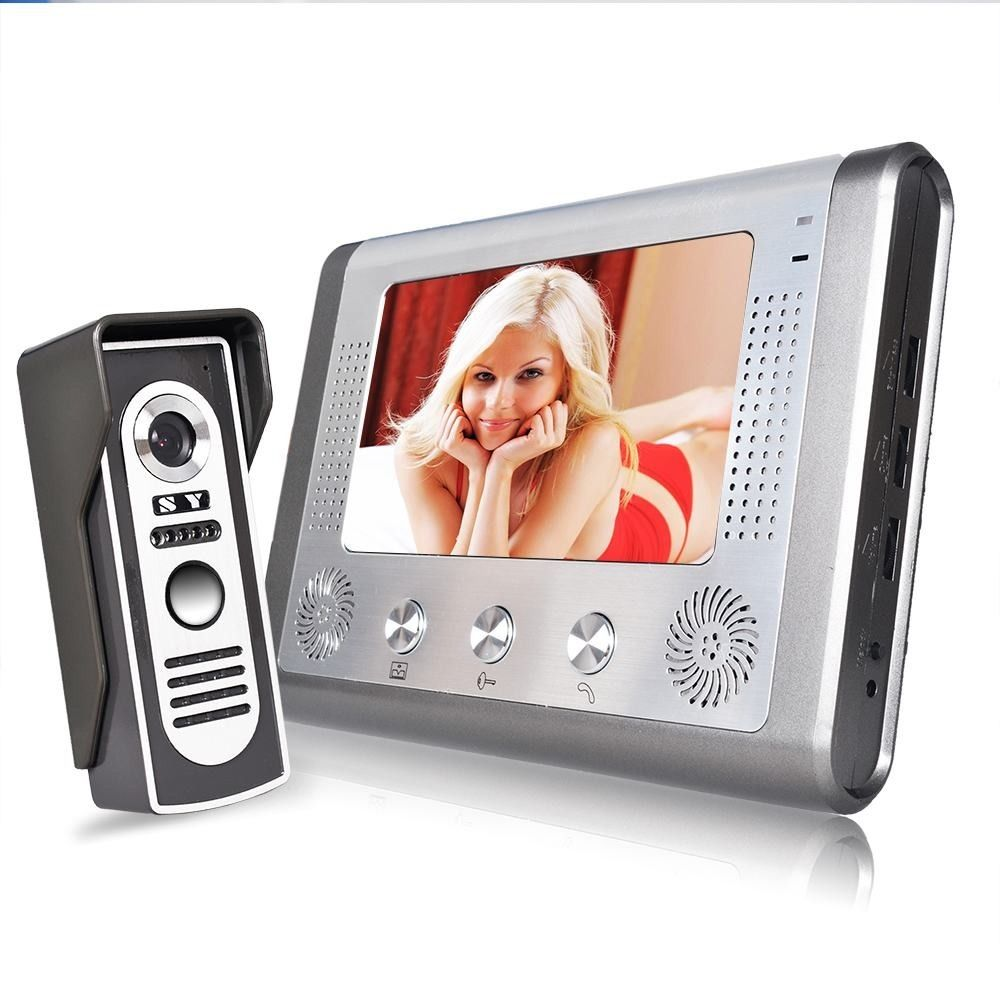 MAOTEWANG 7 Inch Video Door Phone Doorbell Intercom Kit 1-camera 1-monitor Night Vision