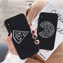 JAMULAR Funny Pizza Best Friends Phone Case For iPhone X XS MAX XR 11 Pro 7 8 6 6s Plus Black Couple Soft Back Cover Funda Shell