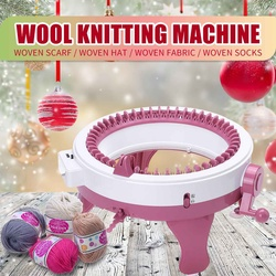 48 Needles Wool Knitted Fabric Large Size DIY Weaving Machine Set Hand Knitted Scarf Sweater Hat Socks Lazy Man Artifact