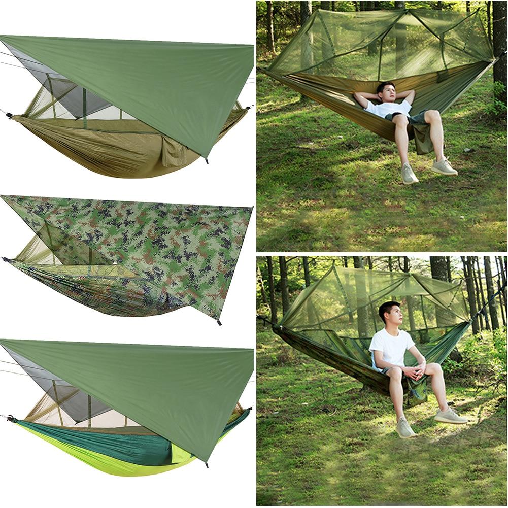 Комплект гамака от москитной сетки тент с водонепроницаемой наружной палаткой для кемпинга для домашнего отдыха