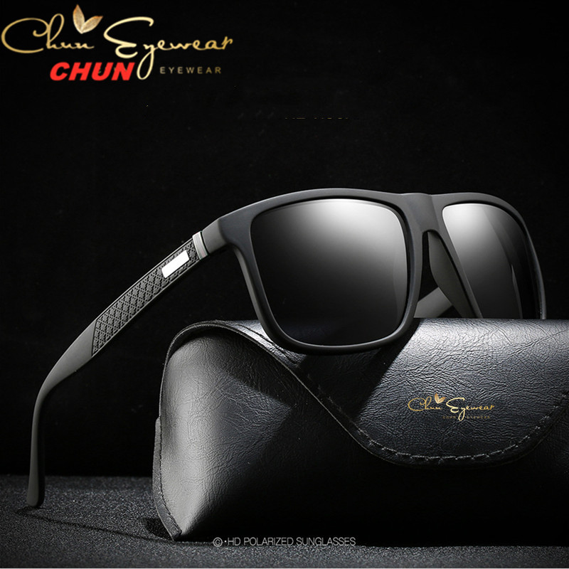 Brand Design Retro Polarized Sunglasses Men Driving Shades Male Vintage Square Sun Glasses For Men Oculos Eyeglasses M203Mens Sunglasses   -