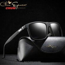 Marka tasarım Retro polarize güneş gözlüğü erkekler sürüş Shades erkek Vintage kare güneş gözlüğü erkekler için Oculos gözlükler M203