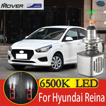 Car Headlight Bulbs LED Provided By SAMSUNG For Hyundai Verna Reina LED Car 6500K White Light Auto Headlight  2X