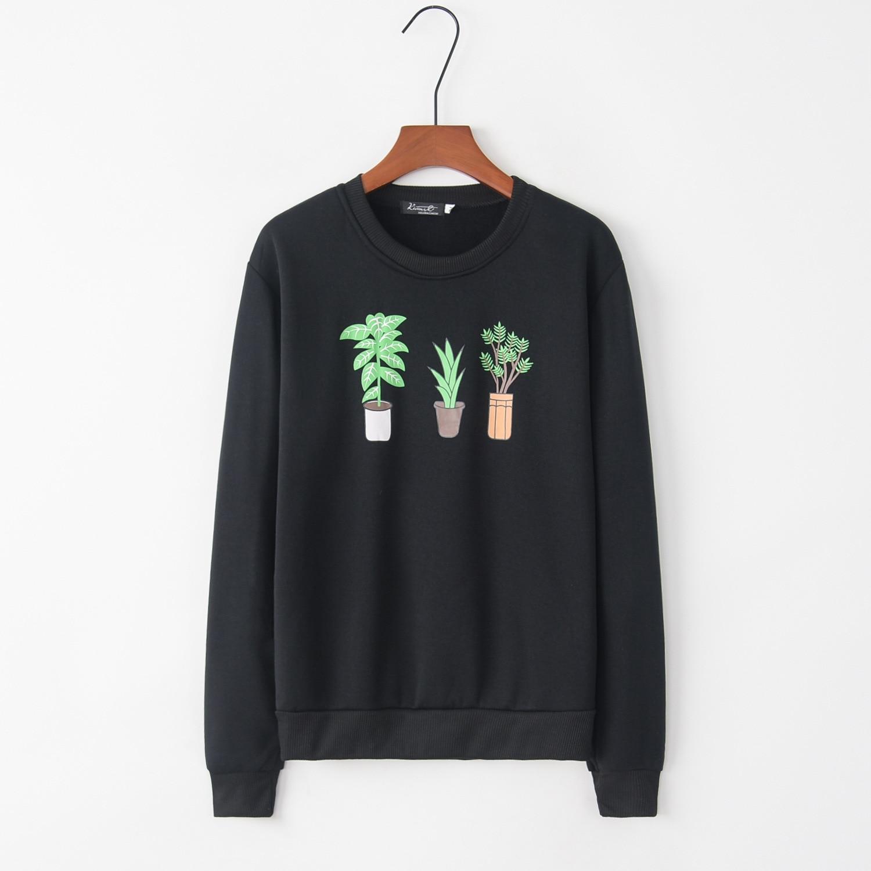 Printed Tree 2020 New Design Hot Sale Hoodies Sweatshirts Women Casual Kawaii Harajuku Sweat Girls European Tops Korean