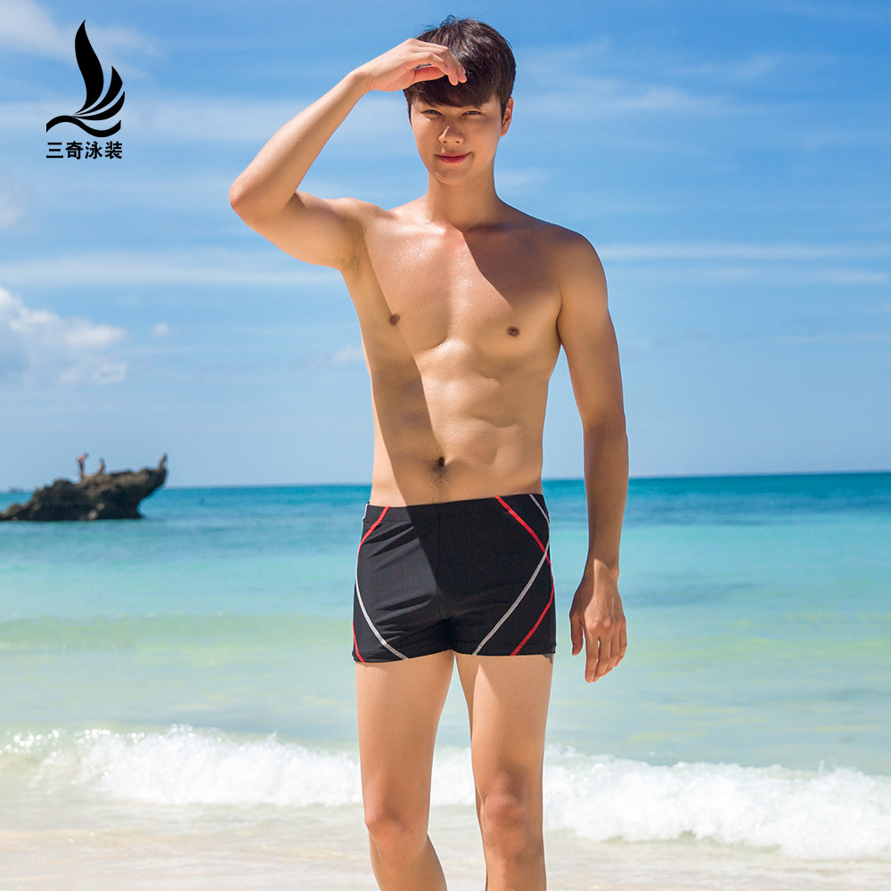 Manufacturers Direct Selling Sanqi MEN'S Boxers Hot Springs Loose And Plus-sized Sexy Low Waist Fashion Models Seaside Holiday M