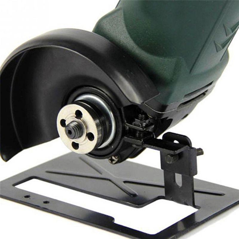 Adjustable Thickened Steel Angle Grinder Balance Bracket Holder Cutting Machine Base DIY Woodwoking Tools 40JE