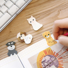 Kawaii Cat Sticky Memo Pad Pad Cute Animal Travel Plannner Note Pad School Office Supplies Записки Наклейка Канцтовары