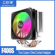 Кулер noenname null f400 для процессора 4 медных тепловых трубы