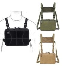 Тактический боевой нагрудный пакет Molle жилет сумки Передняя сумка камуфляж страйкбол жгут кобура многоцелевой пакет скрытый EDC сумка