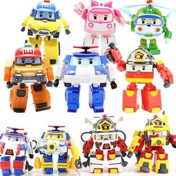Robocar Korea Robot Kids Toys Transformation Anime Action Figure Super Wings Poli Toys Playmobil Juguetes For Children japan anime steel jeeg original bandai tamashii nations super robot chogokin action figure steel jeeg