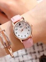 Disney Watch Mickey Mouse Casual Fashion Cute Quartz School Students Girls Boys Watch Relojes Para Mujer Wrist Watches For Women