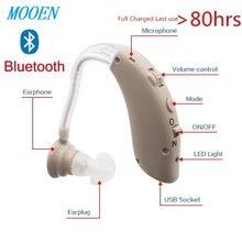 Mini amplificador de soporte auditivo Digital BTE para pérdida auditiva leve a severa, recargable por Bluetooth 2020, envío directo