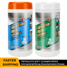 70pcs/lots Disinfection Super Wet Wipes Strong Decontamination Car Wheel leather Window Kitchen Cleaner Remover Stain Paint Care