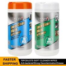 Visbella 70 Stks/partijen Super Natte Doekjes Sterke Decontaminatie Auto Wiel Leather Window Keuken Cleaner Remover Stain Paint Care