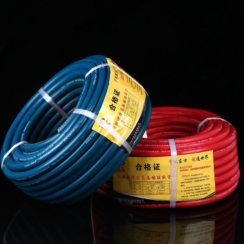 6.0mpa trois Gluons deux lignes haute pression en caoutchouc Tube fabricants vente directe 8 Mm haute pression en caoutchouc tuyau d'oxygène tuyau A