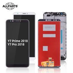 Dla HUAWEI Y7 Prime 2018 LCD ekran dotykowy Digitizer z ramką dla Huawei Y7 Pro 2018 wyświetlacz LND L22 L21 LX3 L23 LX1 TL30|Ekrany LCD do tel. komórkowych|Telefony komórkowe i telekomunikacja -