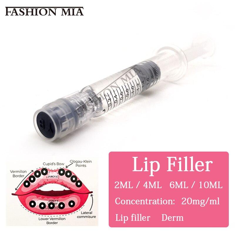 Лучший 20 мг 1 мл/2 мл/косметика парфюмерия диспенсер 5 мл/10 мл сшитого увеличенные губы Гиалуроновая кислота ручка для губ наполнитель для ...