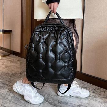 Zimowe miękkie ciepłe nowe damskie plecaki modne z kosmicznym nadrukiem puchowe torby szkolne plecak bawełniane torby podróżne plecak bagpack czarny tanie i dobre opinie NIGEDU Cotton Fabric CN (pochodzenie) Tłoczenie WOMEN Miękka Poniżej 20 litr Kieszeń na telefon komórkowy Wewnętrzna kieszeń