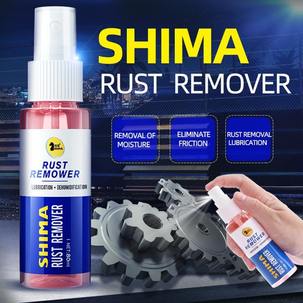 80ml Rust Remover Window Rust-proof Lubrication Inhibitor Wheel Hub Screw Derusting Spray For Metal Parts Car Maintenance Clean