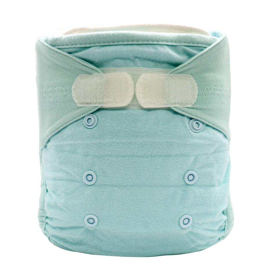 blue reusable bamboo cotton diapers